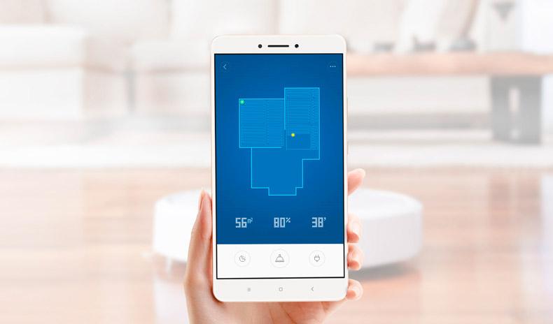 aplicación para el móvil del robot aspirador Xiaomi Vacuum 2
